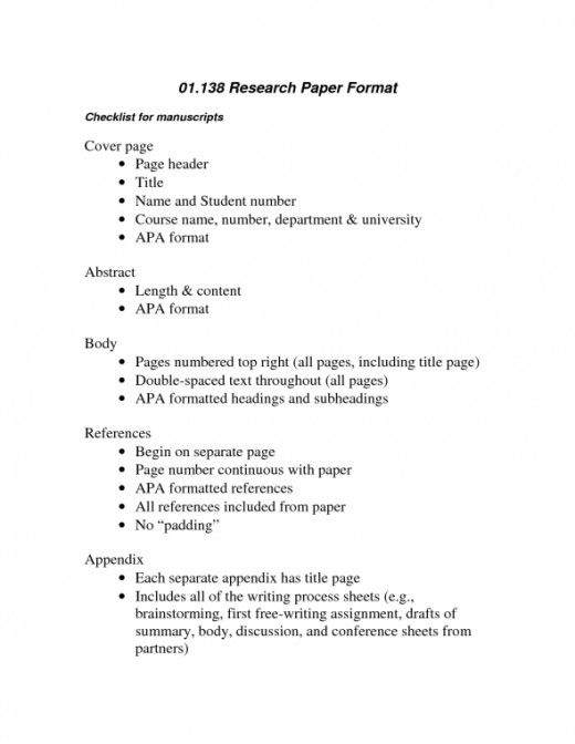 college paper format view sample